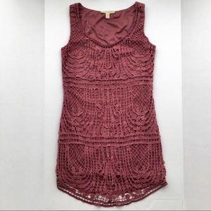 UO staring at stars maroon lace dress
